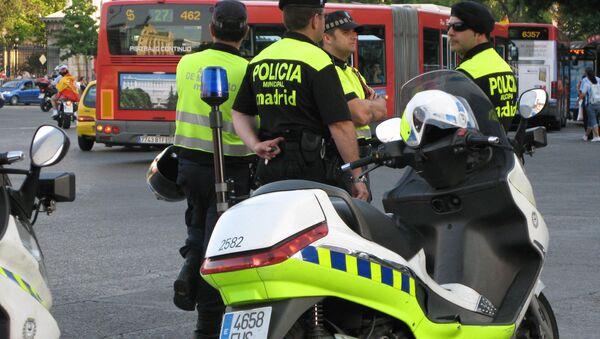 Полиция Мадрида. архивное фото