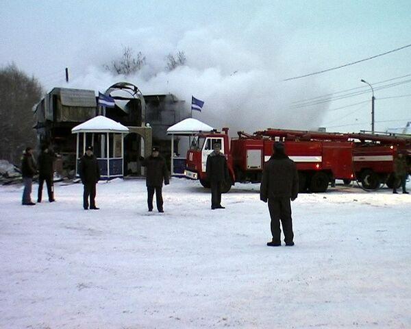 Пожар к кафе в Тюменской области