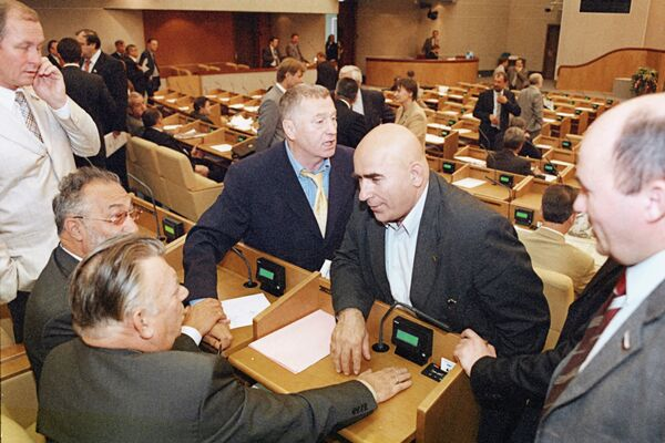 Депутаты Госдумы в зале заседаний