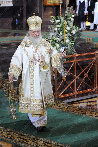 Патриарх Кирилл провел рождественскую службу
