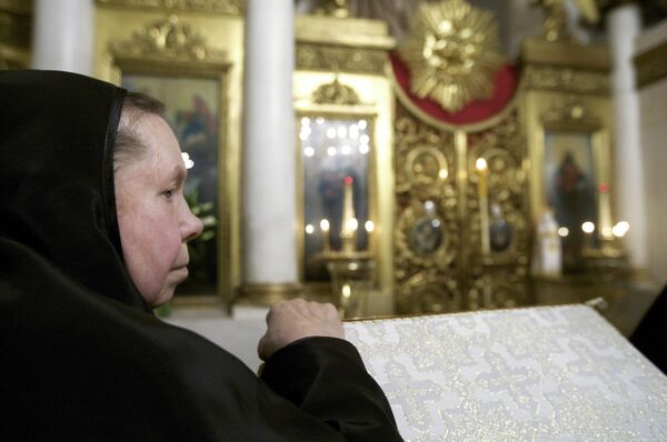 В храме Москвы