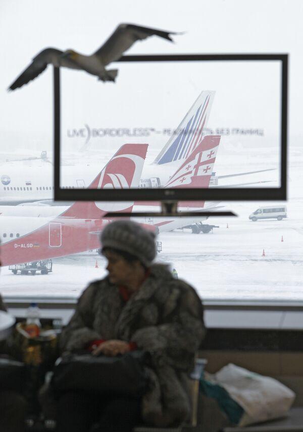 Самолет грузинской авиакомпании Airzena - Georgian Airways приземлился в Москве