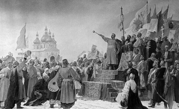 Переяславская Рада - собрание представителей украинского народа во главе с Богданом Хмельницким