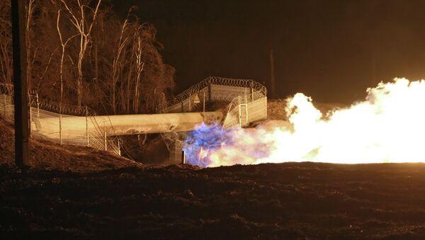 Взрыв на газопроводе. Архив.
