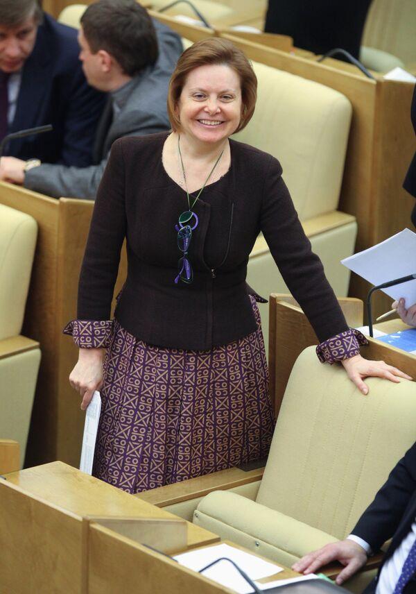 Наталья Комарова на заседании Госдумы РФ 13 января 2010 г.
