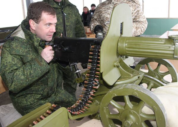 Дмитрий Медведев посетил полигон Выстрел в Подмосковье
