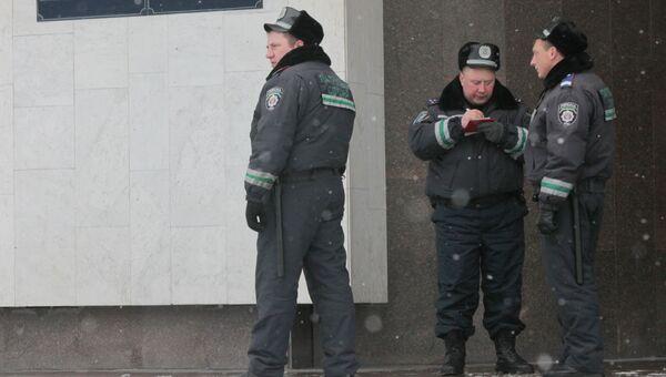 У здания Центральной избирательной комиссии Украины