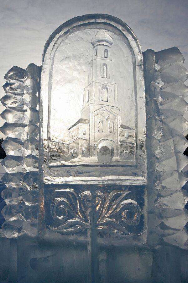 Создание ледяного городка к празднику Крещения Господня