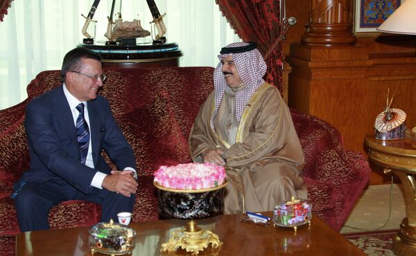 Встреча Виктора Зубкова с королем Бахрейна