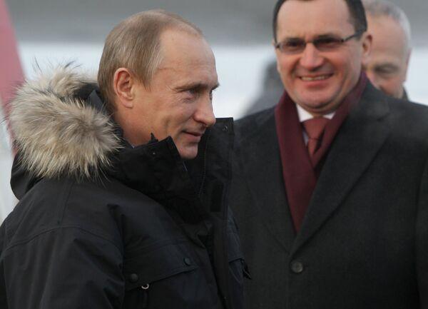 Премьер-министр В.Путин прибыл с рабочей поездкой в Чувашию