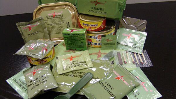 Сухой паек военнослужащих ВС РФ. Архивное фото