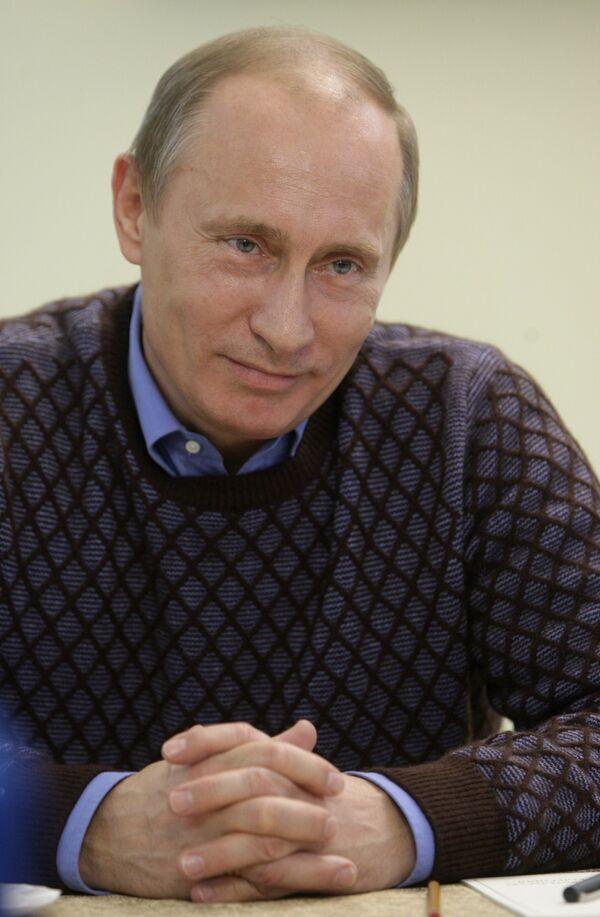 Премьер-министр В.Путин в Чебоксарах 25 января 2010 года