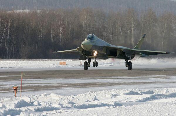 29 января 2010 года в 11:19 по местному времени в Комсомольске-на-Амуре впервые поднялся в воздух новейший боевой самолет российской разработки