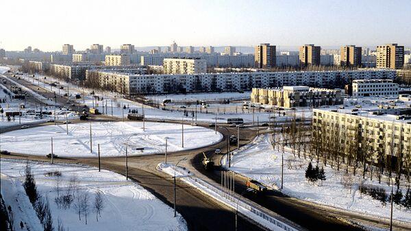 Панорама города Тольятти. Архив
