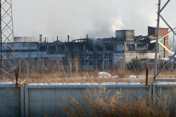 Пожар на заводе СУАЛ-ПМ в Иркутской области