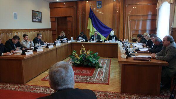 Заседание Центральной избирательной комиссии Украины. Архив