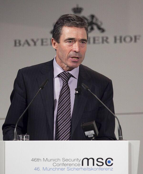 Генсек НАТО Андерс Фог Расмуссен на 46-й Мюнхенской конференции