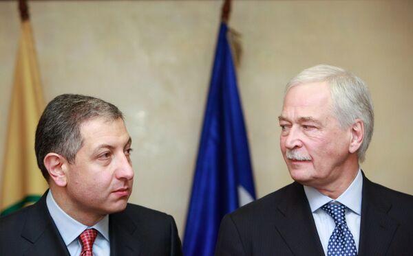 Встреча Бориса Грызлова с экс-премьером Грузии Зурабом Ногаидели