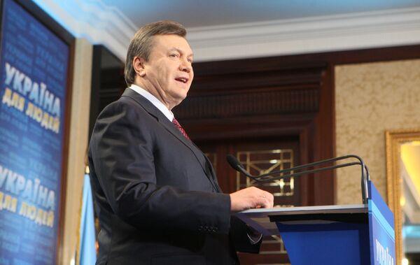 Лидер Партии регионов Виктор Янукович. Архив