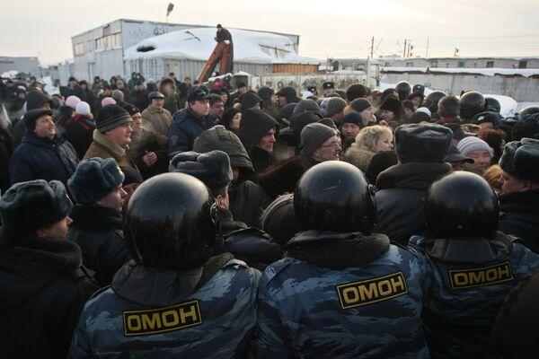 Выселение с Хасанского рынка в Санкт-Петербурге торговцев