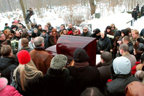 Похороны актрисы Анны Самохиной
