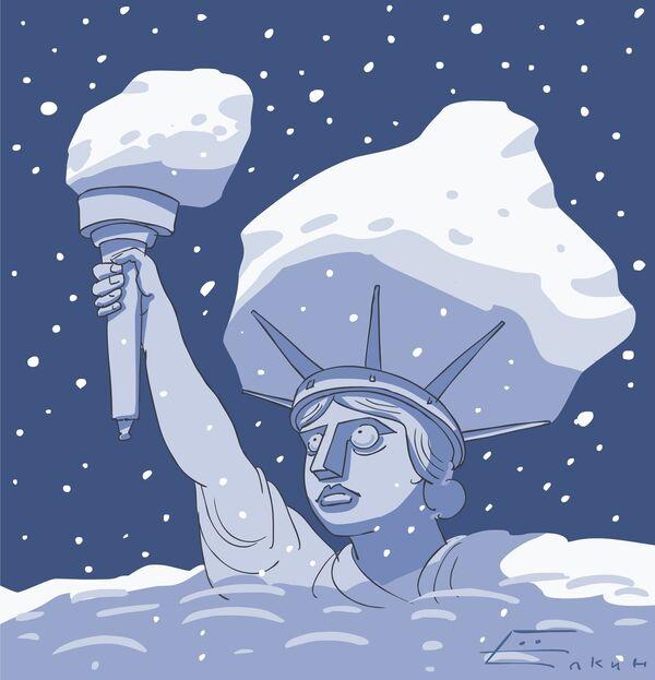 Снегопад в Нью-Йорке - дело житейское