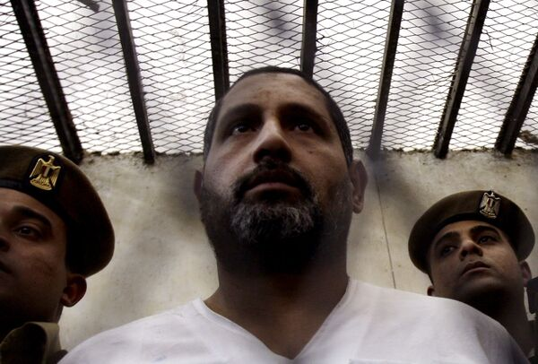 Мухаммед аль-Каммуни, главный обвиняемый в расстреле группы христиан на юге Египта в канун Рождества