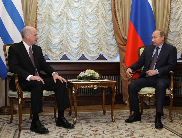 Встреча премьер-министров России и Греции