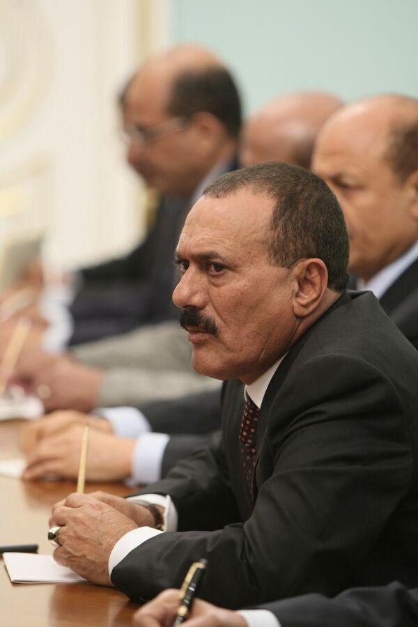 Президент Йеменской Республики Али Абдалла Салех. Архив