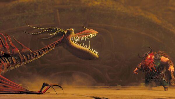 Кадры из анимационного фильма Как приручить дракона. Архивное фото
