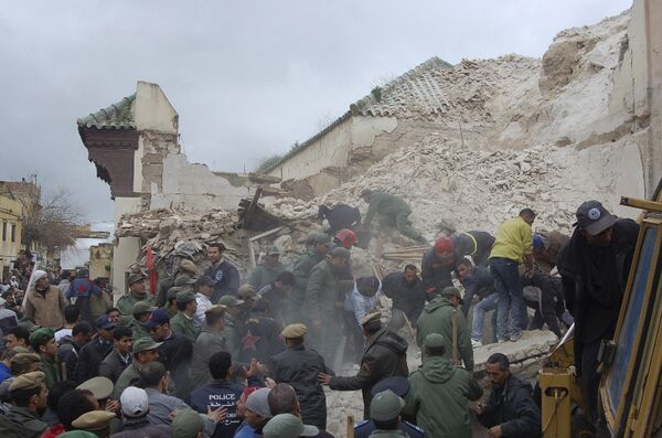 Мечеть обрушилась в городе Мекнес на северо-западе Марокко