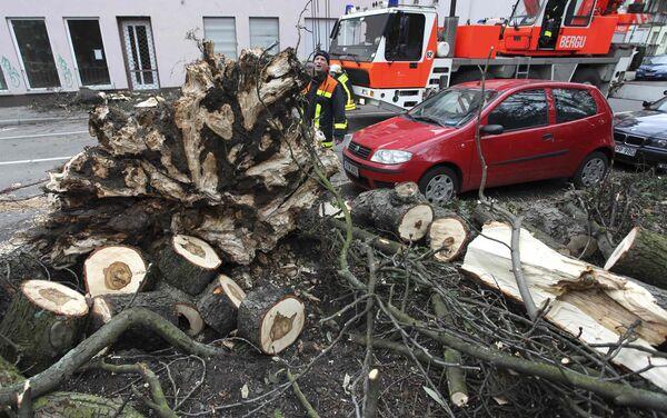 Последствия урагана Ксинтия в Германии