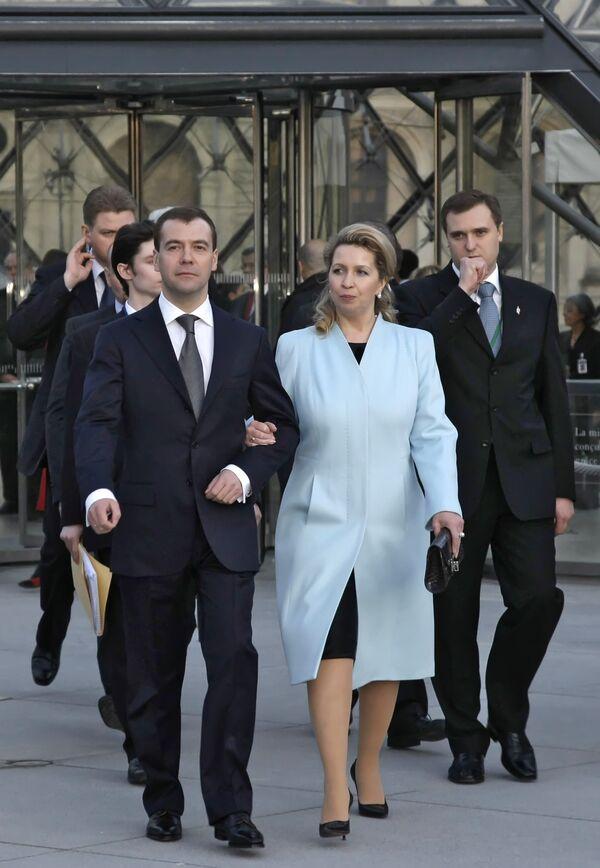 Президент Д.Медведев в Париже