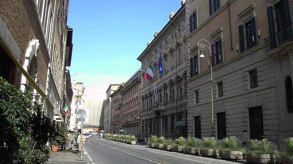 Здание итальянского Сената — палаццо Мадама в Риме