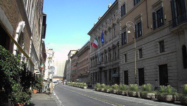 Здание итальянского Сената — палаццо Мадама в Риме, архивное фото
