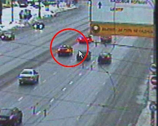 Видеозапись момента перед ДТП на Ленинском проспекте