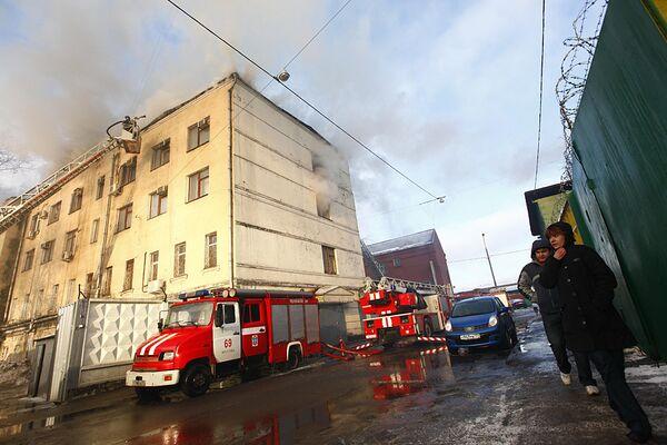 Пожар на северо-востоке Москвы