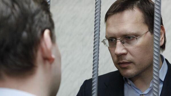 Бывший первый заместитель министра финансов Московской области Валерий Носов перед началом заседания в Тверском суде. Архив