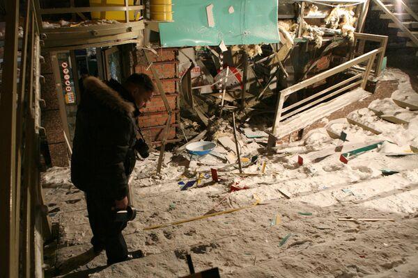На месте взрыва в центре Новосибирска
