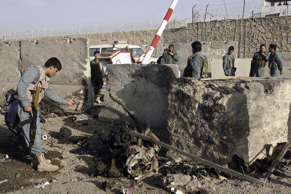 На месте теракта у дома начальника полиции Кандагара