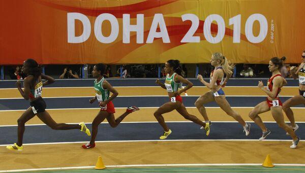 Забег на 1500 метров на ЧМ в Дохе