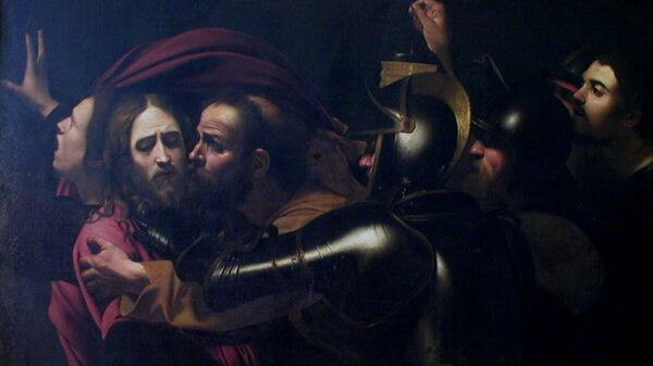 Микеланджело да Караваджо Взятие Христа под стражу, или поцелуй Иуды