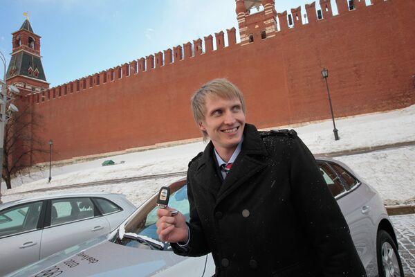 Награждение призеров Олимпиады - 2010 на Васильевском спуске