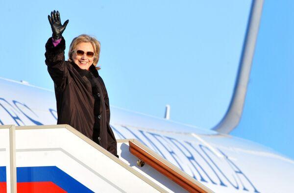 Прилет госсекретаря США Хиллари Клинтон