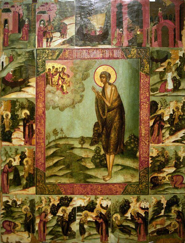 Репродукция иконы Святая Мария Египетская с житием