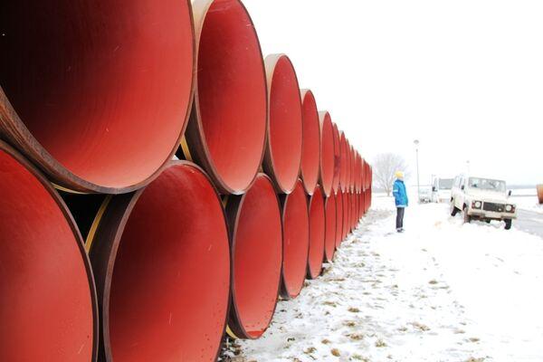 Строительство газопровода-отвода от Nord Stream. Архив