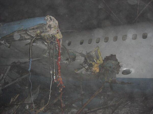 Аварийная посадка самолета Ту-204 при подлете к Домодедово
