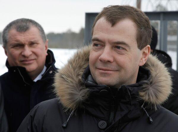 Дмитрий Медведев посетил во время визита в ХМАО