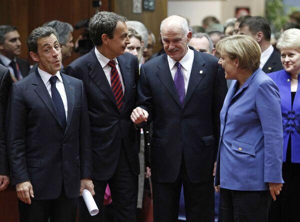 Лидеры стран еврозоны на мини-саммите по помощи Греции