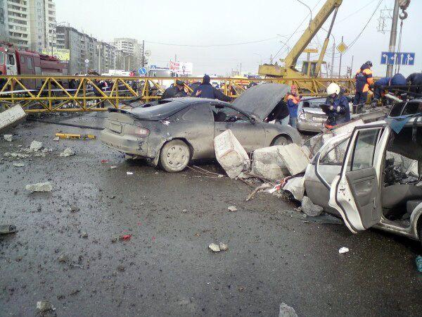 Упавший в Красноярске Кран